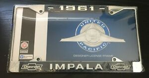 1961 Impala License Plate Frame New Chrome Steel For 6 By 12 Plate 1 Piece