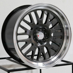 One 15x8 Xxr 531 4x100 4x114 3 20 Chromium Black Ml Wheels Rims