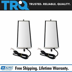 16 X 6 Stainless Steel West Coast Mirror Pair Heated Signal For Hd Semi Truck