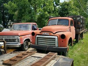 1948 Gmc 300 Truck Cab Pickup Rat Rod Dually Parts Or Restore Flat Bed