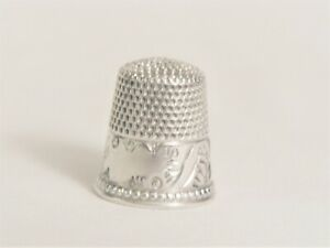 Sterling Silver Thimble 1880 S Palmette Motif By Ketcham Mcdougall Size 10