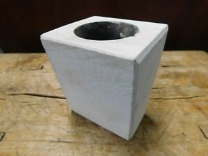 1 Hole Wooden Sugar Mold Wood Candle Holder Primitive Home Decor Chippy White
