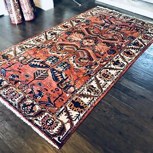 Stunning C 1930 Vintage Antique Exquisite Hand Made Rug 5 7 X 10 4