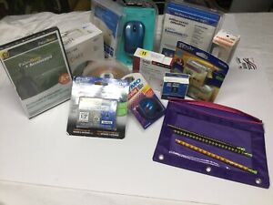 Lot Of Various Office Supplies And Computers Acessories
