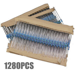 1280pcs 64 Values 1 4w Metal Film Resistors Resistance Assortment Kit Set us