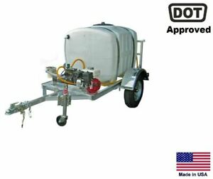 Sprayer Commercial Trailer Mounted 9 5 Gpm 200 Gallon Tank Highway Ready