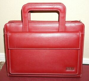 Day One Franklin Covey Red Classic Planner 7 Ring W Snap Pocket
