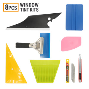 8 Pcs Car Window Tint Wrapping Vinyl Tools Squeegee Scraper Applicator Pro Kits
