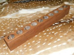 10 Hole Wooden Sugar Mold Wood Candle Holder Primitive Rustic Home Decor