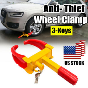 Heavy Duty Wheel Clamp Boot Tire Lock Claw Trailer Auto Van Car Truck Anti Theft