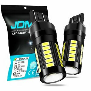 2x T20 7443 Led Bulbs 5730 White Backup Reverse Stop Lights Turn Signal 16 Smd