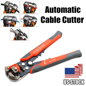 Professional Self adjusting Wire Stripper Cutter Crimper Cable Stripping Tool Us