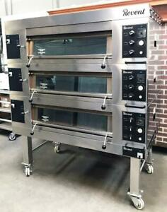 Revent 649 Hc Bakery Restaurant Kitchen Equipment 3 Deck Electric Pizza Oven