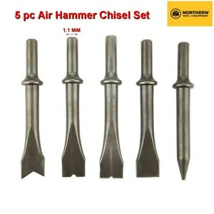 Northern Tool 5 Pc Air Hammer Chisel Set With 1 1mm Shaft