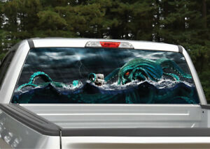 Sea Monster Kraken Nautical Rear Window Decal Graphic For Truck Suv