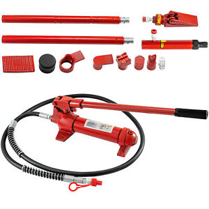 6 Ton Hydraulic Jack Body Porta Power Frame Repair Kit 2m Lengthen Hose Lift Ram