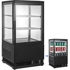 2cu ft Commercial Display Cabinet Refrigerator Snack 60hz Four sided Glass