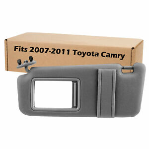 New Grey Sun Visor Left Driver For 2007 2011 Toyota Camry Without Vanity Light