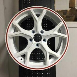 17 Type R Style Fits Honda Civic Si New White Red Lip Alloy Wheels
