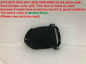 2014 2015 2016 2017 2018 Bmw X5 Left Side Front Bumper Outer Grille 51118056855