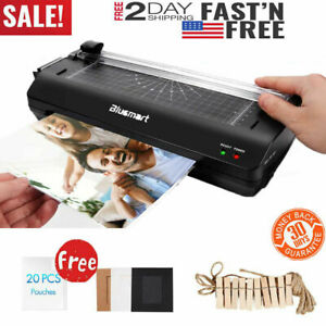 13 A4 A6 Steel Thermal Photo Office Pouch Hot cold Laminator Laminating Machine