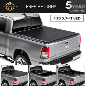 Tonneau Cover For 2009 18 Dodge Ram 1500 2500 3500 5 7 Ft Bed Soft