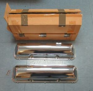 1960 64 Ford Galaxie Thunderbird New Big Block Chrome Baldy Valve Covers