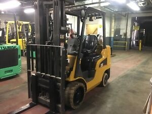 2014 Cat 6000 Lb Forklift With Side Shift And Triple Mast Non Maring Tires