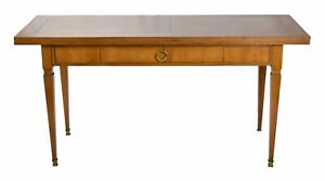 Vintage Baker Neo Classical Style Console Sofa Table W Convertible Flip Top