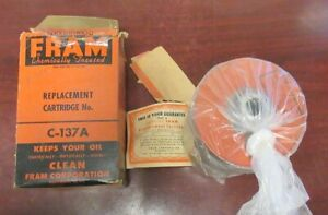 Vintage Fram New C 137a International Harvester 303 312 411 Engine Oil Filter