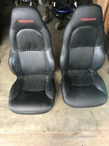 C5 Corvette Z06 Seat Cushion And Frame Assembly Pair Black 97 04