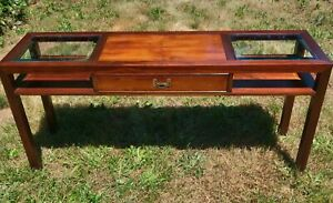 Beautiful Vintage Asian Styled Hekman Drawered Sofa Table Excellent Condition
