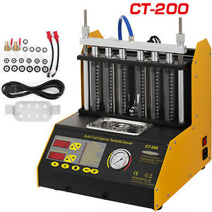 Ct200 Ultrasonic Fuel Injector Cleaner Tester Machine 6 Cylinder For Car Motor