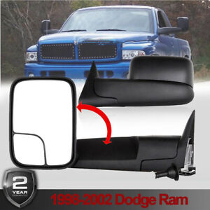 Latest Style Power Heated Tow Mirrors Fits 98 01 Dodge Ram 1500 98 02 2500 3500