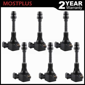 Set 6 Ignition Coils For Infiniti I35 Qx4 Nissan Altima Maxima Quest V6 3 5l