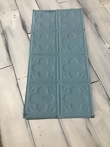 24 1 2 X 12 Antique Tin Ceiling Tile Vintage Metal For Craft Projects Decor