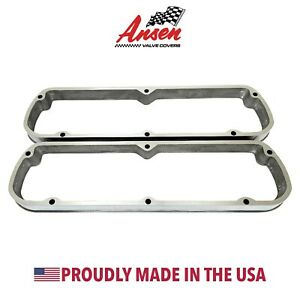 Ford 289 302 351w Valve Cover Spacers Polished Die cast Aluminum Ansen Usa