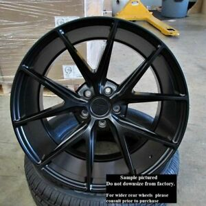 4 New 18 Staggered Rims Wheels For 2013 2014 2015 Camaro Ls Lt 5707