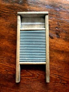 Vintage Small National Washboard Wood And Tin Ready To Hang 17 X 7 1 2