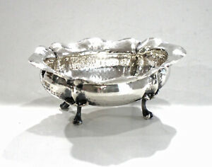 Antique Hammered Silver Candy Dish 800