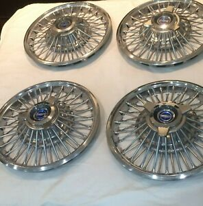 Ford Mustang Fairlane Spinner Hubcaps Wheel Covers Center Caps 1965 1966 1967