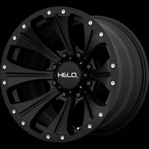 17 Inch Black Wheels Rims Chevy 2500 3500 Dodge Ram Ford Truck 17x9 Helo He901