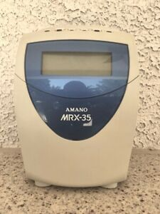Amano Mrx 35 Time Clock With Extra Cards Ribbon