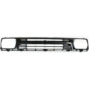 Grille For 92 95 Toyota Pickup Black Plastic