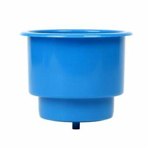 15 pack Plastic Cup Drink Can Holder With Drain Boat Recessed Cup Holder bl