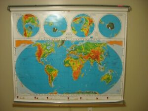 Nystrom World Us United States School Classroom Pull Down Map 2 Layer 1pr981a