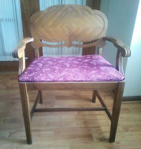 Vintage Victorian Art Deco Vanity Chair Wood Bench Piano Seat Antique Waterfall