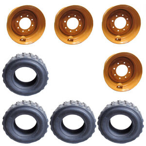 4 12 16 5 Hd Skid Steer Tires wheels rims For Case 12x16 5