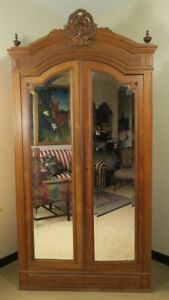 French Walnut Antique Armoire