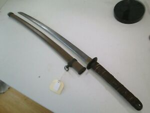 Late Wwii Japanese Officers Samurai Sword With Scabbard Signed Dated Tang C11